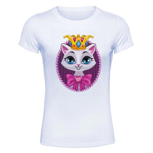 تیشرت زنانه شاخ طرح گربه ملکه