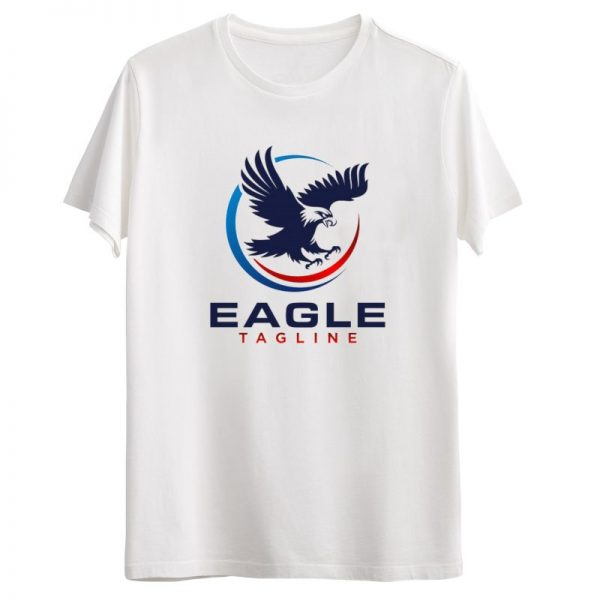 تیشرت طرح عقاب سفید