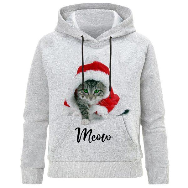 هودی دخترانه طرح بچه گربه