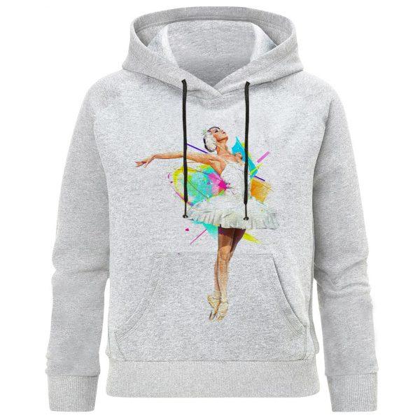 هودی دخترانه طرح رقص باله