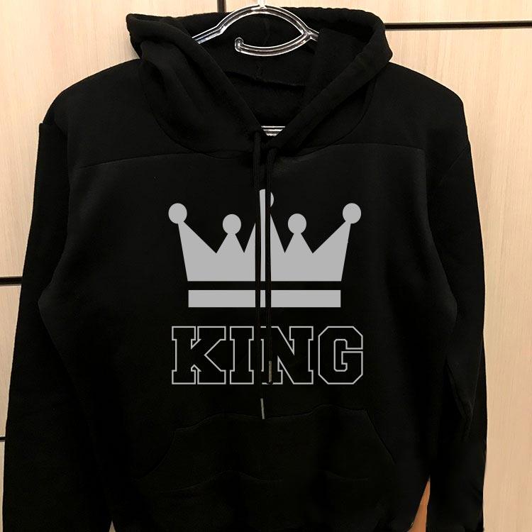 هودی ست مردانه مشکی طرح king queen