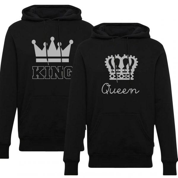 هودی ست مشکی طرح king queen