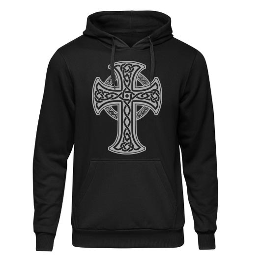 هودی مشکی طرح صلیب