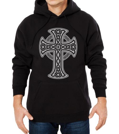 هودی مشکی مردانه طرح صلیب